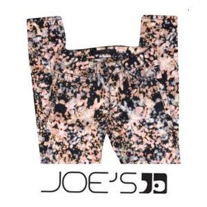 JOES pink and blue printed ankle skinny